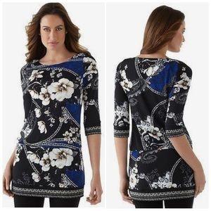 White House Black Market Floral Tunic
